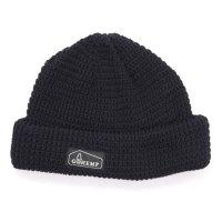 GO HEMP ゴーヘンプ|HEMP ORGANIC COTTON WATCH CAP (ブラック)(ニット帽)