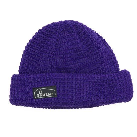 GO HEMP ゴーヘンプ|HEMP ORGANIC COTTON WATCH CAP (パープル)(ニット帽)
