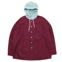 RELAX FIT リラックスフィット|AMERICAN SHIRTS (レッド)(フードシャツ)