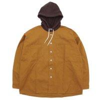 RELAX FIT リラックスフィット|AMERICAN SHIRTS (キャメル)(フードシャツ)