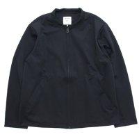 Jackman ジャックマン|JM8051 Jersey Varsity Jacket (ブラック)(ストレッチジャケット)
