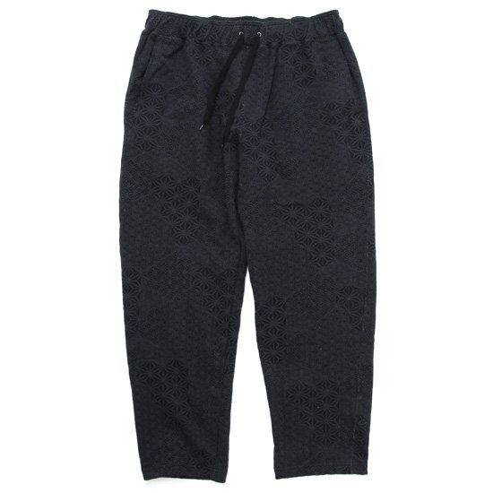 GO HEMP ゴーヘンプ|麻柄 RELAX SWEAT PANTS (ブラック)(イージーパンツ)