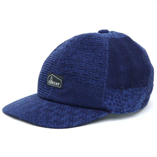 GO HEMP ゴーヘンプ|JAPANESE PATTERN PANEL CAP (ブルー)(キャップ)