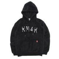 KM4K カモシカ|BOA FLEECE HOODY (ブラック) (フリースパーカー)(軽量フリース)