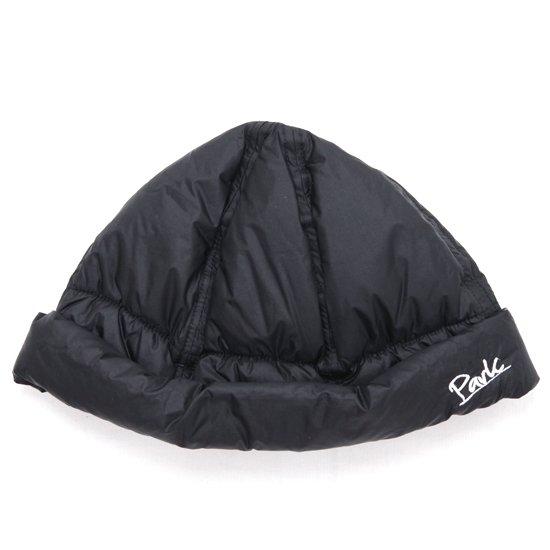 THE PARK SHOP ザ パークショップ DOWNBOY HAT (ブラック)(ダウン中綿 ロールキャップ)