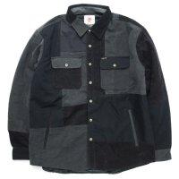 Nasngwam ナスングワム|WINTER SKELTER JACKET (ブラック L)(リメイク 中綿ジャケット)