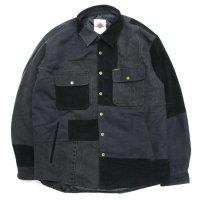 Nasngwam ナスングワム|WINTER SKELTER JACKET (ブラック M)(リメイク 中綿ジャケット)