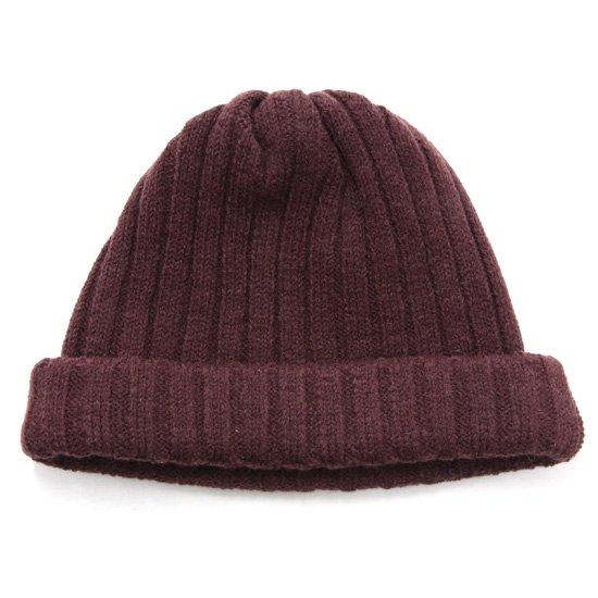remilla レミーラ|リブニット帽 (ボルドブラウン)(ワッチキャップ)