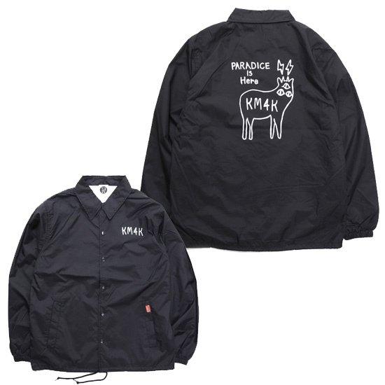 KM4K カモシカ OG COACH LOGO JACKET (ブラック)(カモシカ コーチジャケット)