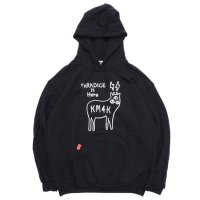 KM4K カモシカ|OG HOOD LOGO PARKA (ブラック)(ロゴ パーカー)