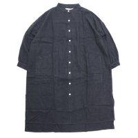 A HOPE HEMP アホープヘンプ|レディース Hemp Flannel Back Tail Shirt OP (チャコール)(ワンピース)