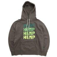 GO HEMP ゴーヘンプ|FOR HEMP HOODY (スケッチカーキ)(プルパーカー)