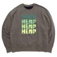 GO HEMP ゴーヘンプ|FOR HEMP CREW (スケッチカーキ)(スウェットクルー)