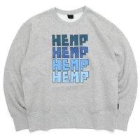 GO HEMP ゴーヘンプ|FOR HEMP CREW (アッシュヘザー)(スウェットクルー)