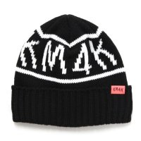 KM4K カモシカ|MOJI BEANIE (ブラック)(ビーニー ワッチキャップ)