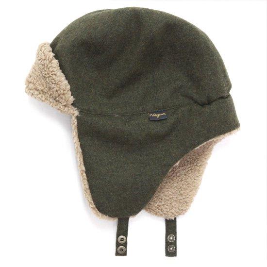 Nasngwam ナスングワム PORCO CAP (オリーブ)(フライトキャップ)