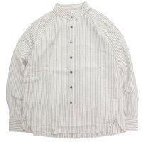 HiHiHi ひひひ|ゴデシャツ (ストライプ)(スタンドカラーシャツ)