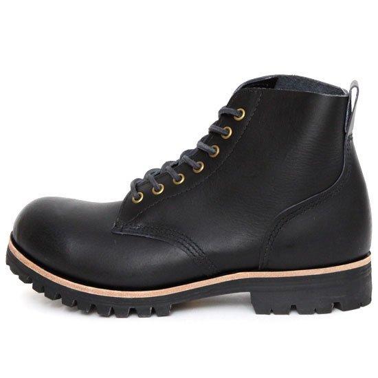 William Lennon ウィリアムレノン #107 Field Boots (ブラックスムース)(ワークブーツ フィールドブーツ)