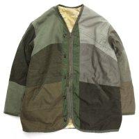 Nasngwam ナスングワム|GRIZZLY JACKET (オリーブ XL)(リメイク リバーシブルジャケット)