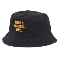HAVE A GRATEFUL DAY ハブアグレイトフルデイ| LOGO HAT (ブラック)(バケットハット)