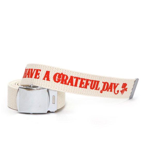 HAVE A GRATEFUL DAY ハブアグレイトフルデイ| GI BELT (ホワイト)(ガチャベルト)