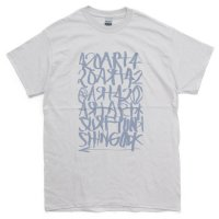 【OUT FLOW アウトフロー】15周年 shingo 420 × Fire Logo T-shirt (アイスグレイ)(高橋信吾)
