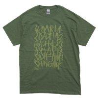 【OUT FLOW アウトフロー】15周年 shingo 420 × Fire Logo T-shirt (フォレスト)(高橋信吾)