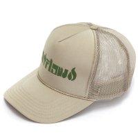 【OUT FLOW アウトフロー】Original Logo Mesh cap (カーキ)(メッシュキャップ)