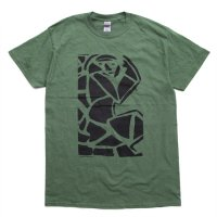 【OUTFLOW アウトフロー】Dover's art T-shirt (Dover Abrams)(プリントTシャツ)(ミリタリーグリーン)