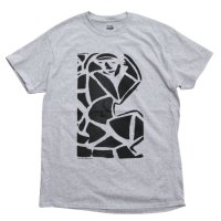 【OUTFLOW アウトフロー】Dover's art T-shirt (Dover Abrams)(プリントTシャツ)(ヘザーグレイ)