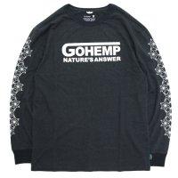 GO HEMP ゴーヘンプ NATURE's ANSWER L/SL TEE (ガンメタルグレイ)(ロンTEE)