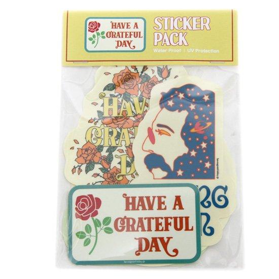 HAVE A GRATEFUL DAY ハブアグレイトフルデイ ORIGINAL STICKERS PACK (ステッカー 5枚入り)