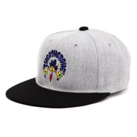 【THE OHTER ONE ジアザーワン】刺繍キャップ flat visor cap (グレイ) (キャップ)
