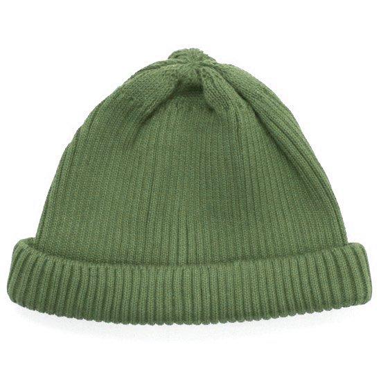 RoToTo ロトト|COTTON ROLL UP BEANIE (グリーン)(ニット帽 コットンニット)