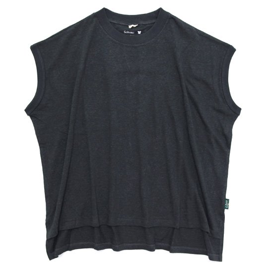 GO HEMP ゴーヘンプ レディース HONEY SLEEVE-LES TEE (ガンメタルグレイ)(Tシャツ)