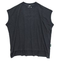 GO HEMP ゴーヘンプ|レディース HONEY SLEEVE-LES TEE (ガンメタルグレイ)(Tシャツ)