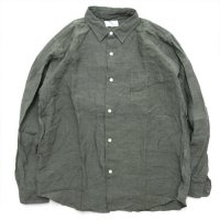 SPINNER BAIT スピナーベイト|グランジウォッシュ オグリシャツ (アーミーグリーン)(長袖シャツ)