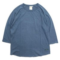 A HOPE HEMP アホープヘンプ|Raglan 3/4 Tee (ミッドナイトブルー)(ラグラン 七分袖TEE)