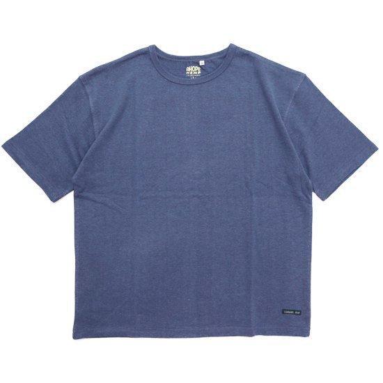 A HOPE HEMP アホープヘンプ|Set in BIG S/S Tee (ミッドナイトブルー)(Tシャツ)