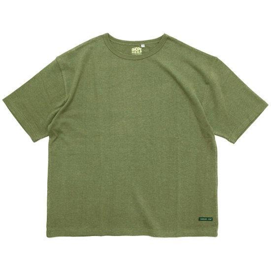 A HOPE HEMP アホープヘンプ Set in BIG S/S Tee (ハーブグリーン)(Tシャツ)