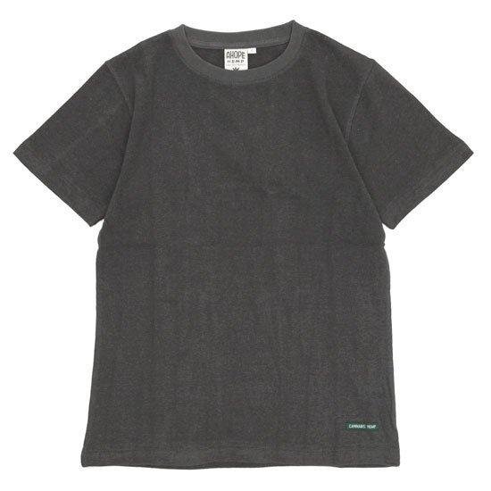 A HOPE HEMP アホープヘンプ Regular S/S Tee (オールドブラッキー)(ヘンプコットン Tシャツ)