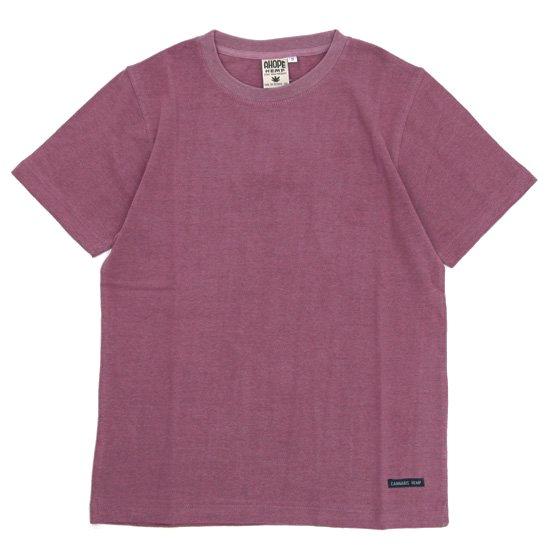 A HOPE HEMP アホープヘンプ|Regular S/S Tee (スカーレット)(ヘンプコットン Tシャツ)