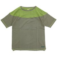 A HOPE HEMP アホープヘンプ|Unique Cutting S/S Tee (オリーブ)(ヘンプコットン Tシャツ)