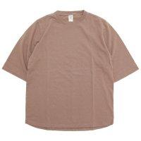 Jackman ジャックマン|JM5930 1/2 Sleeved T-shirt (ベージュ)(五分袖Tシャツ)