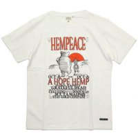 A HOPE HEMP アホープヘンプ|Hempeace S/S Tee (ナチュラル)(ヘンプコットン Tシャツ)