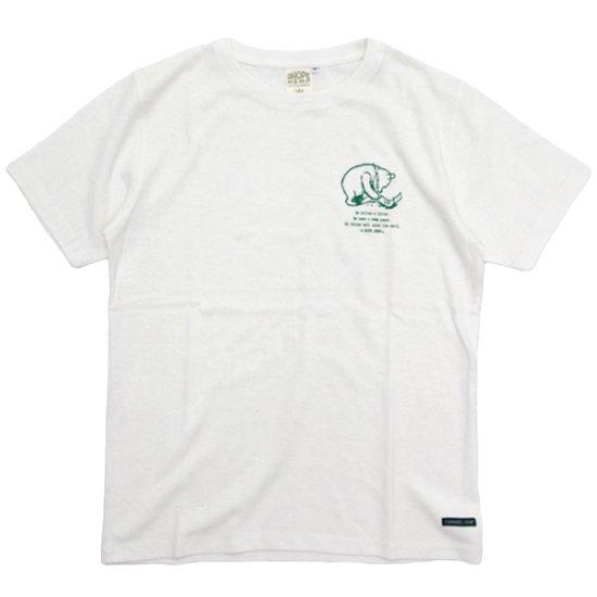 A HOPE HEMP アホープヘンプ|Pooh Thinks The Earth S/S Tee (ナチュラル)(ヘンプコットン Tシャツ)
