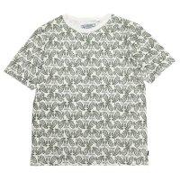 A HOPE HEMP アホープヘンプ|Paisley S/S Tee (オリーブ)(ヘンプコットン Tシャツ)