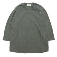 remilla レミーラ コードドルマン七分 Tee (カーキグレイ)(七分袖TEE)