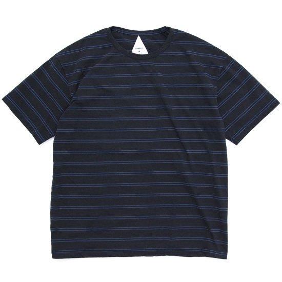 remilla レミーラ BDボーダー Tee (ダークチャコール)(Tシャツ)