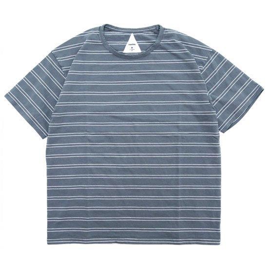 remilla レミーラ|BDボーダー Tee (ブルーグレイ)(Tシャツ)